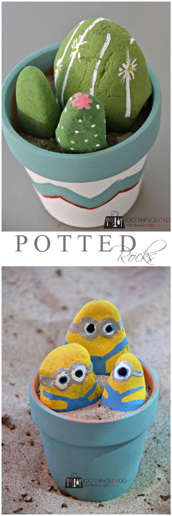Crafting with Kids - painting rocks
