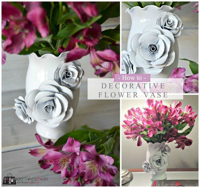 How to make a decorative vase - using paper and spray paint