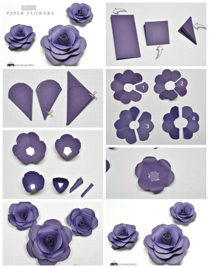How to make paper flowers - tutorial