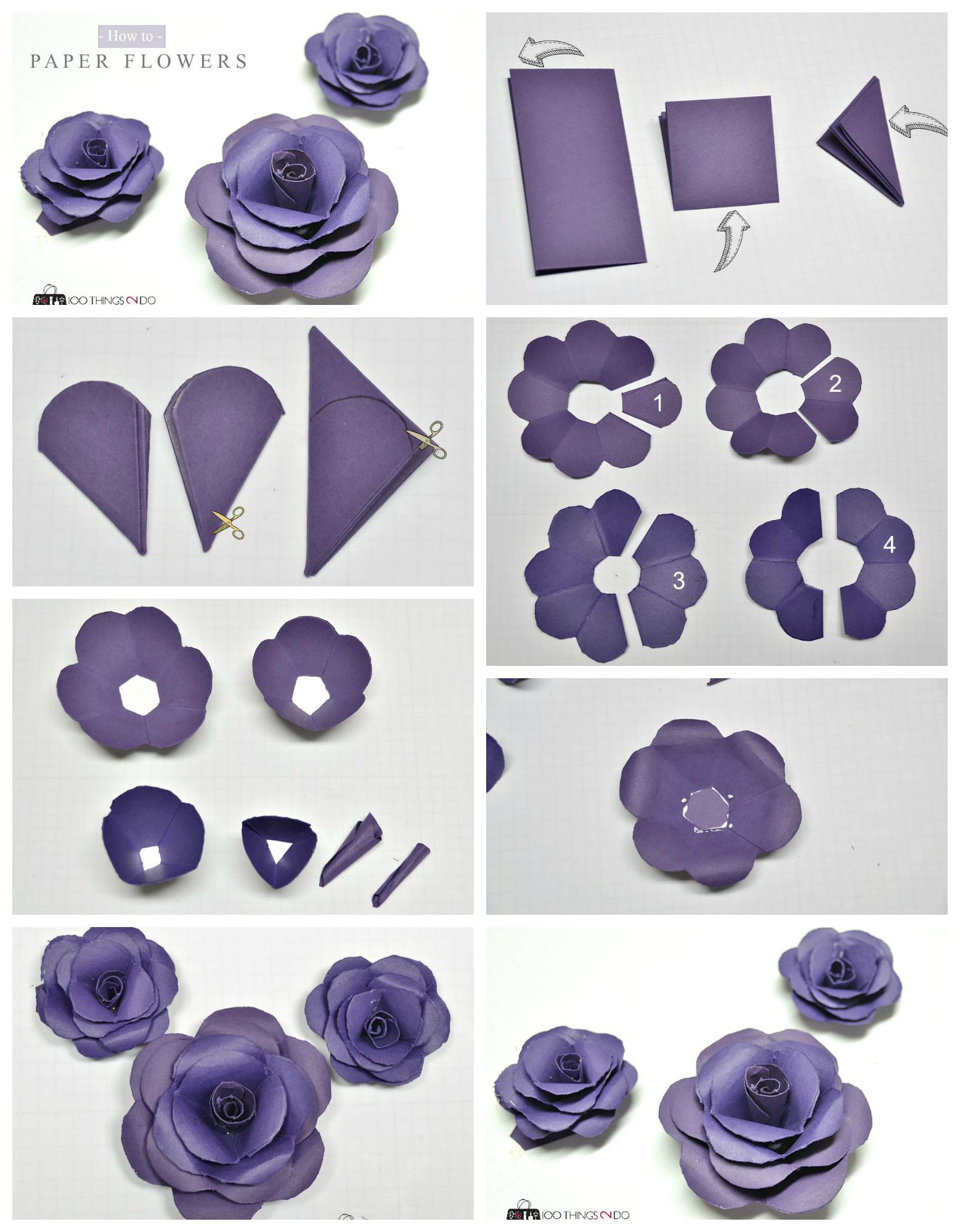 How to make paper flowers 100 things 2 do how to make paper flowers tutorial mightylinksfo