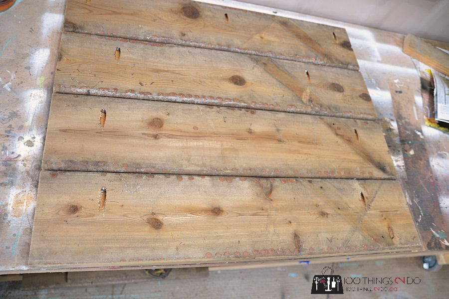 Use a Kreg Jig to hold planks of wood solidly and easily.