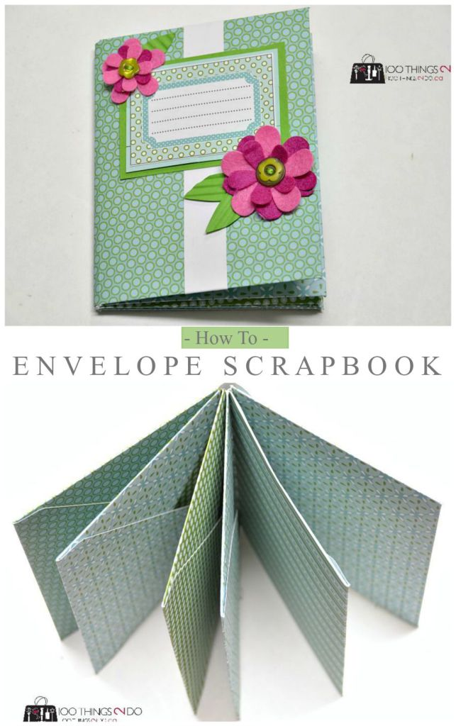 How To Make A Scrapbook Out Of Envelopes Envelope Scrapbook