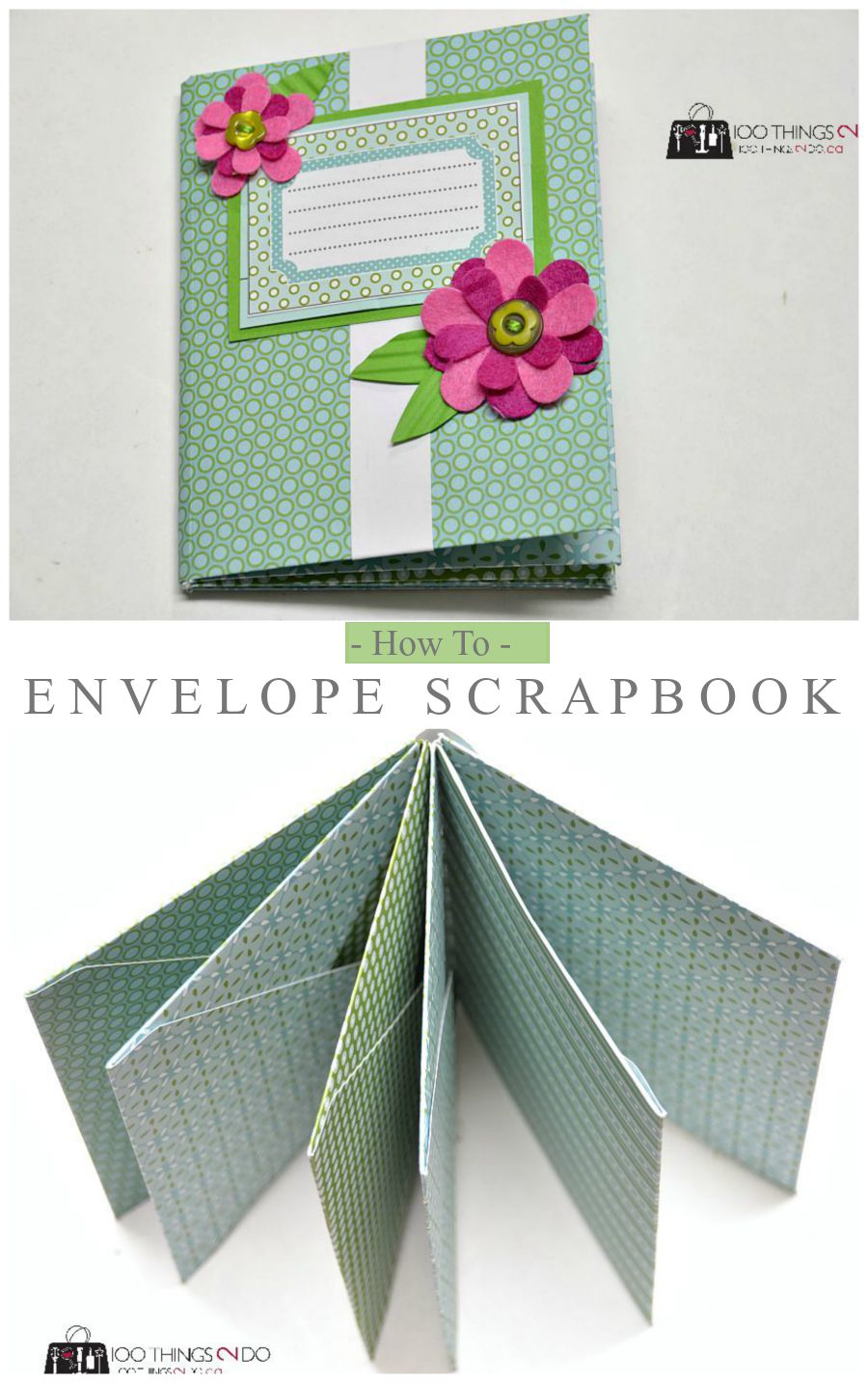 Scrapbook paper envelope - How To Make An Envelope Scrapbook Easy Paper Craft That Makes A Great Brag Book