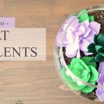 How to make felt succulents
