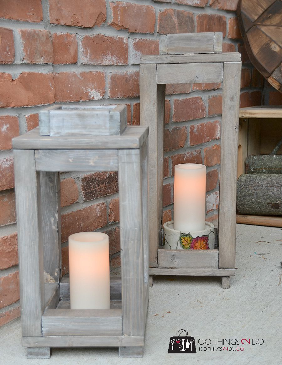 DIY Rustic Lantern - tutorial and video how to.
