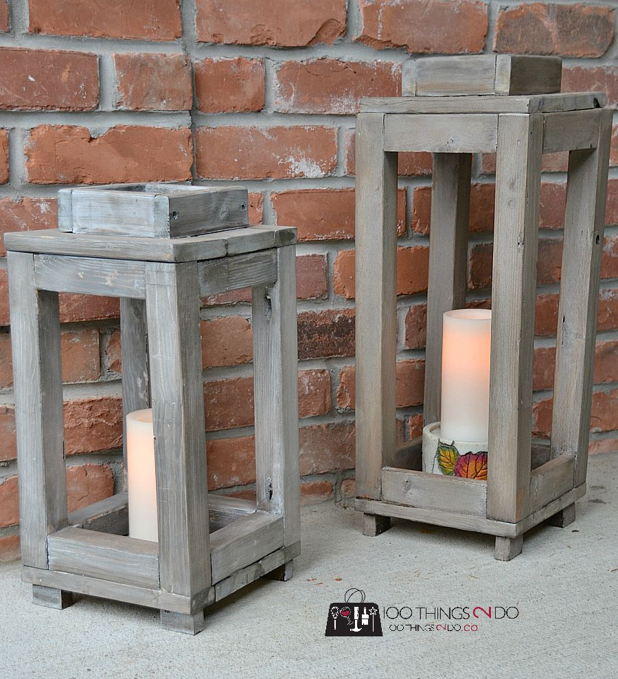 31 Rustic Diy Home Decor Projects: DIY Wood Lantern