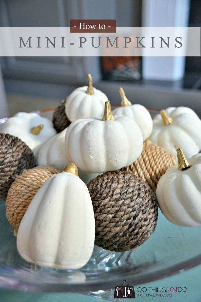 "Paint your own ""Baby Boo"" pumpkins"