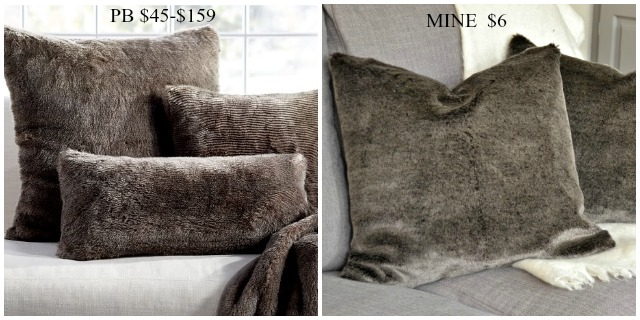 DIY Faux fur pillows