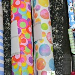 Storing wrapping paper, wrapping paper organization