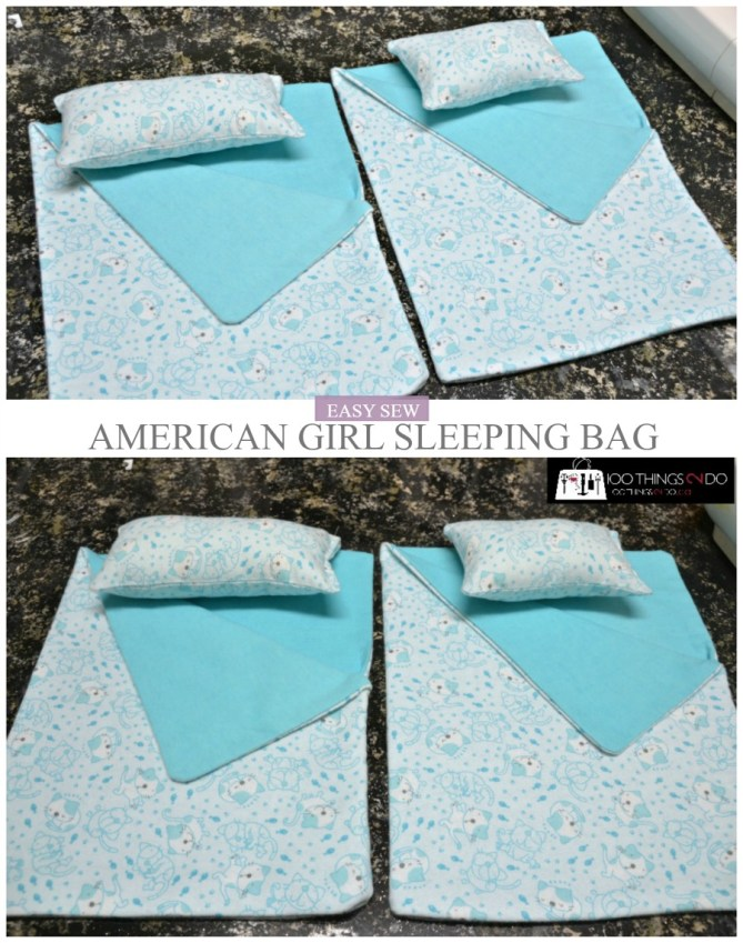 American Girl Doll Sleeping bag - easy sew