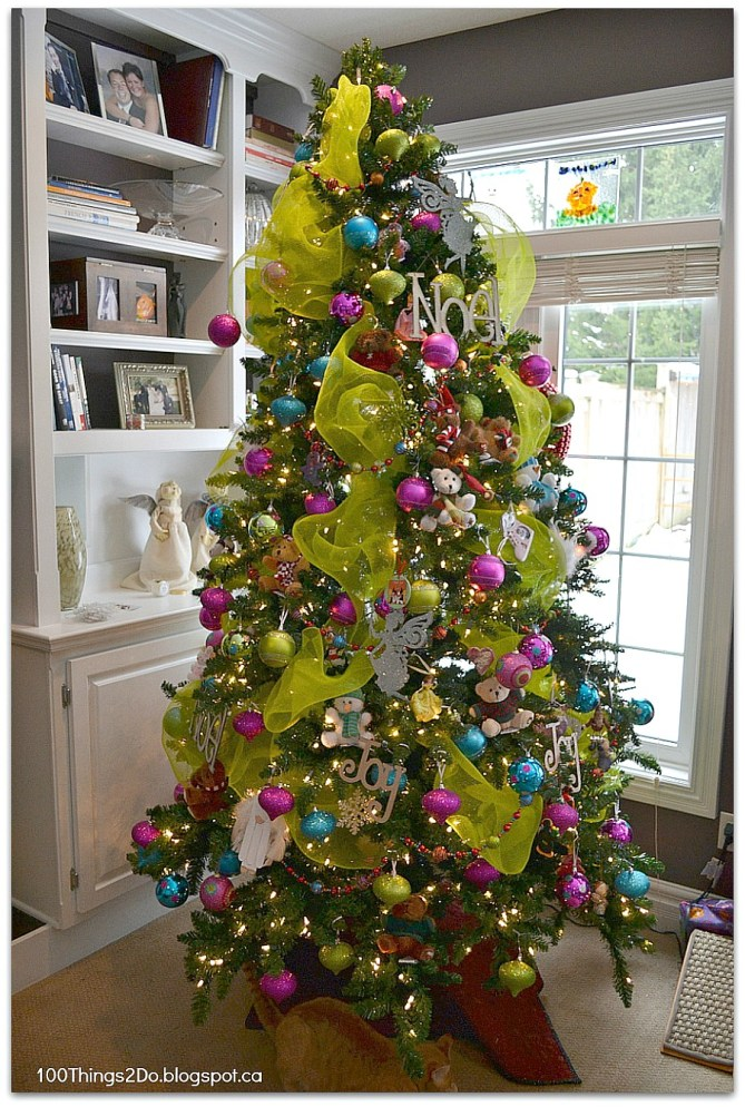 Christmas Tree - bright bold and full of colour