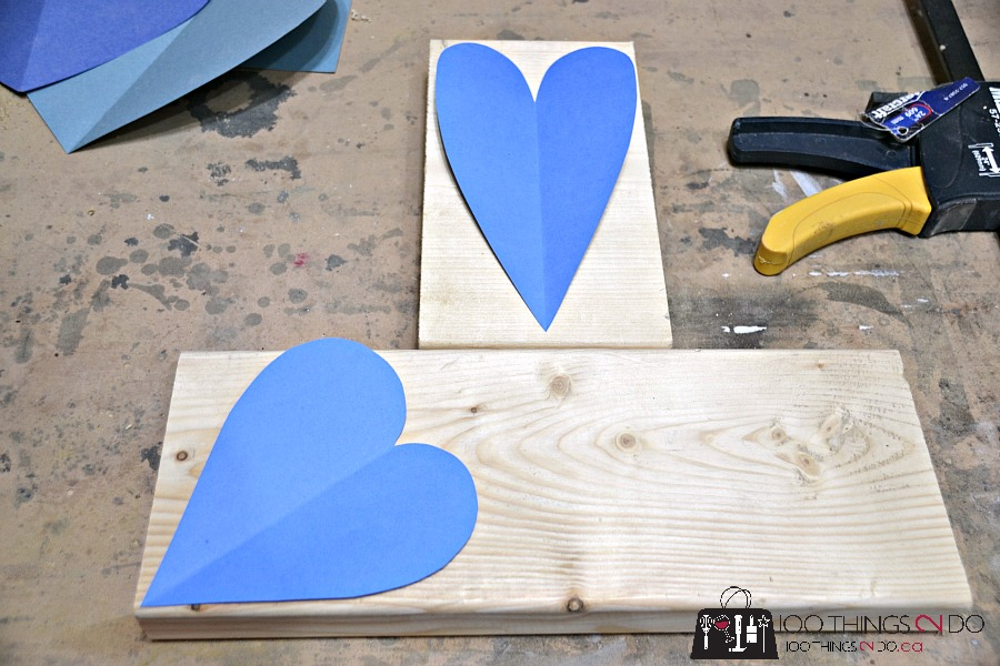 DIY Valentine's Decor - scrap wood hearts