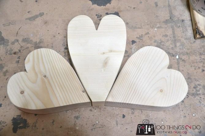Scrap Wood Hearts - 4