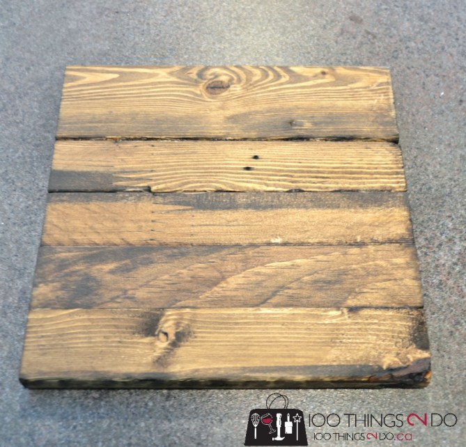 DIY Chevron Art on Scrap Wood - 2