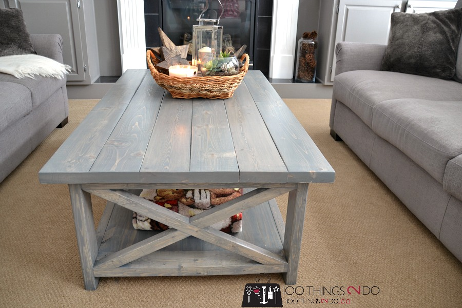 Diy Coffee Table Rustic X, Things To Use Instead Of A Coffee Table