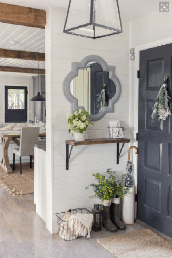 Styling your entryway - small space