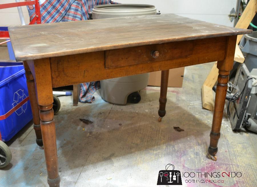 furniture makeover   antique farmhouse table makeover   antique farmhouse table  rh   100things2do ca