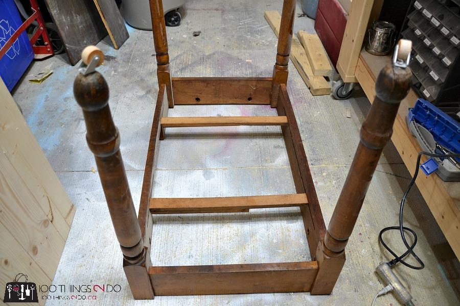 Antique farmhouse table desk 4