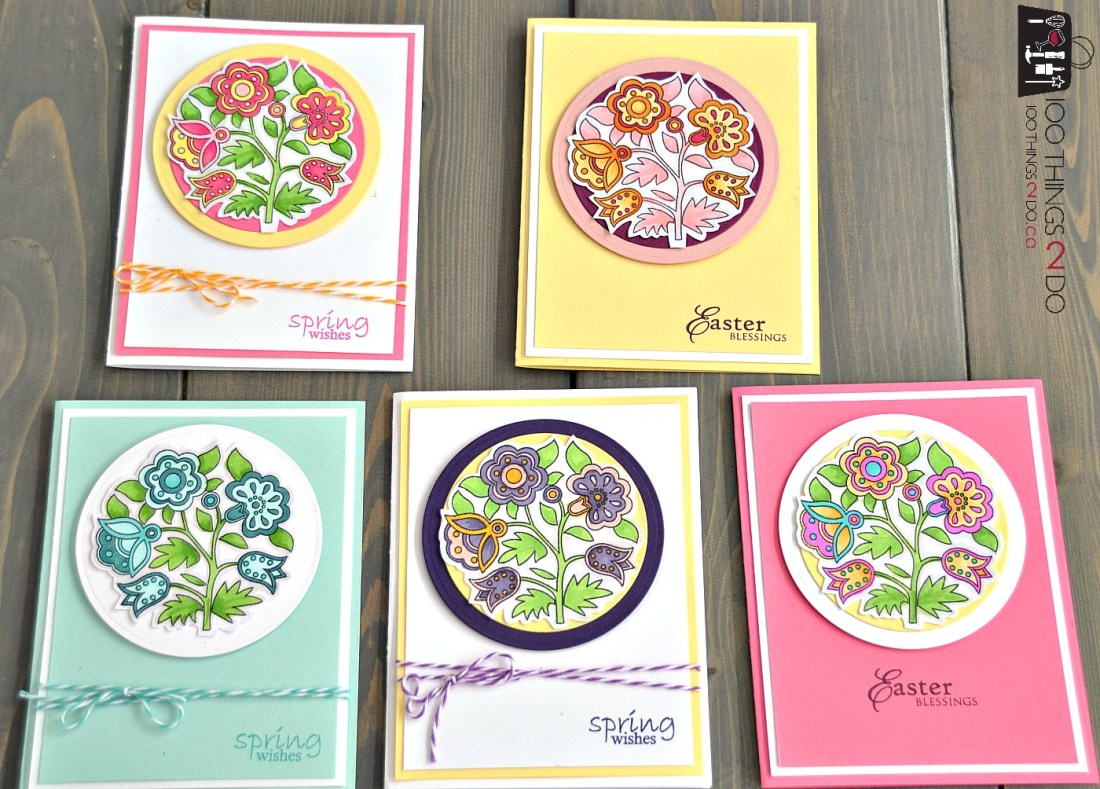 Easter Wishes - adult colouring Easter cards 2