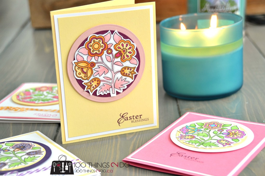 Easter Wishes - adult colouring Easter cards 8