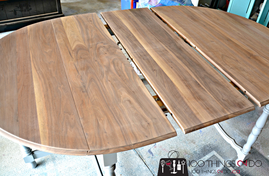 Table Makeover - Antique drop leaf table. Gate leg table.