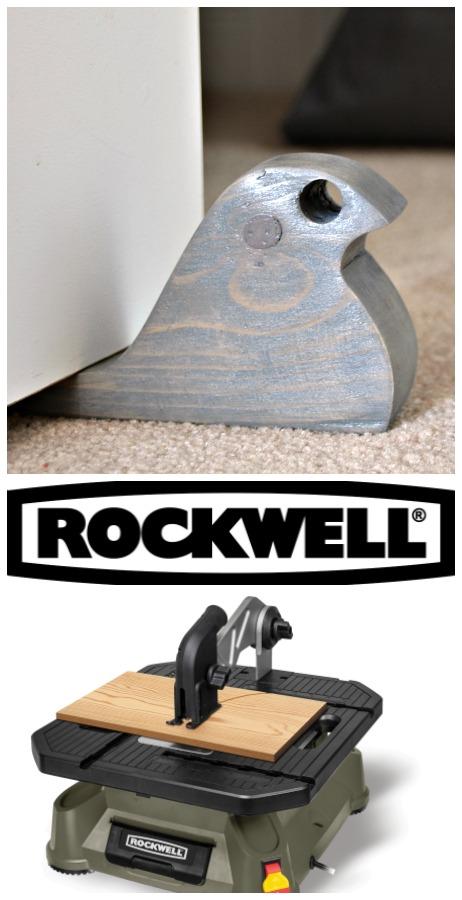 Rockwell Tools - scrap wood bird doorstopper