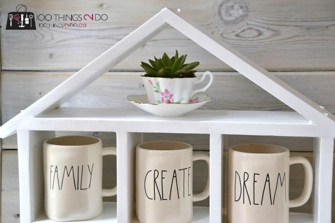 DIY Coffee Mug Shelf 2 - 6
