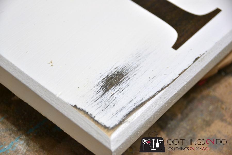 DIY wooden sign - Patisserie