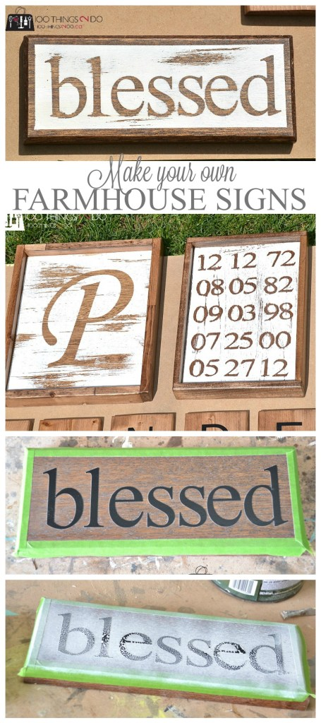 Make your own farmhouse signs
