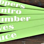 DIY Garden Markers from paint sticks