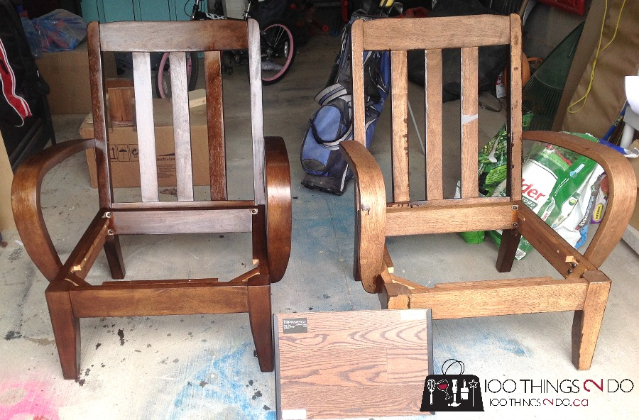 Office chair makeover - refinished chairs