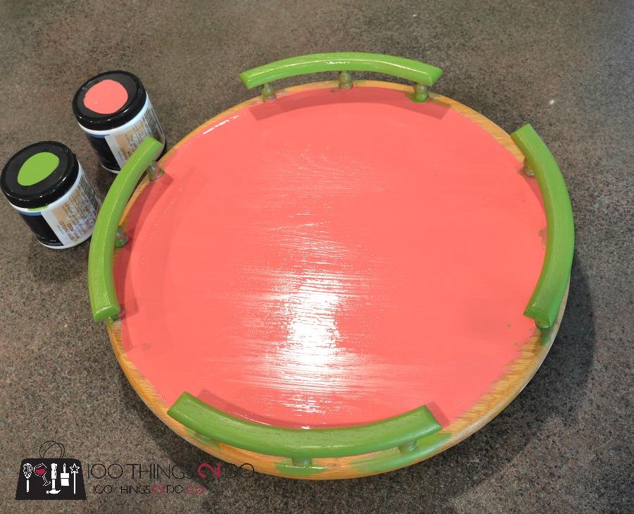 Watermelon Lazy-Susan / Watermelon serving tray