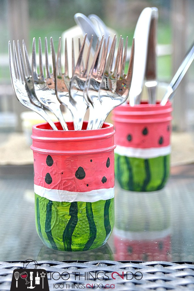 Watermelon utensil holders 3 - 4