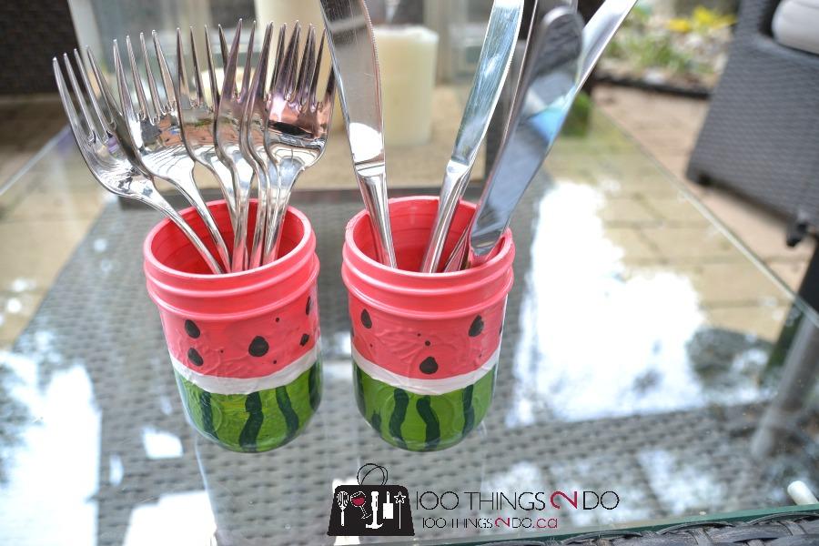 Watermelon utensil holders 3 - 7