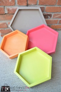 Hexagonal trays  - 9