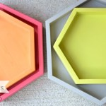 Tutorial - DIY decorative trays, hexagonal trays, nesting trays