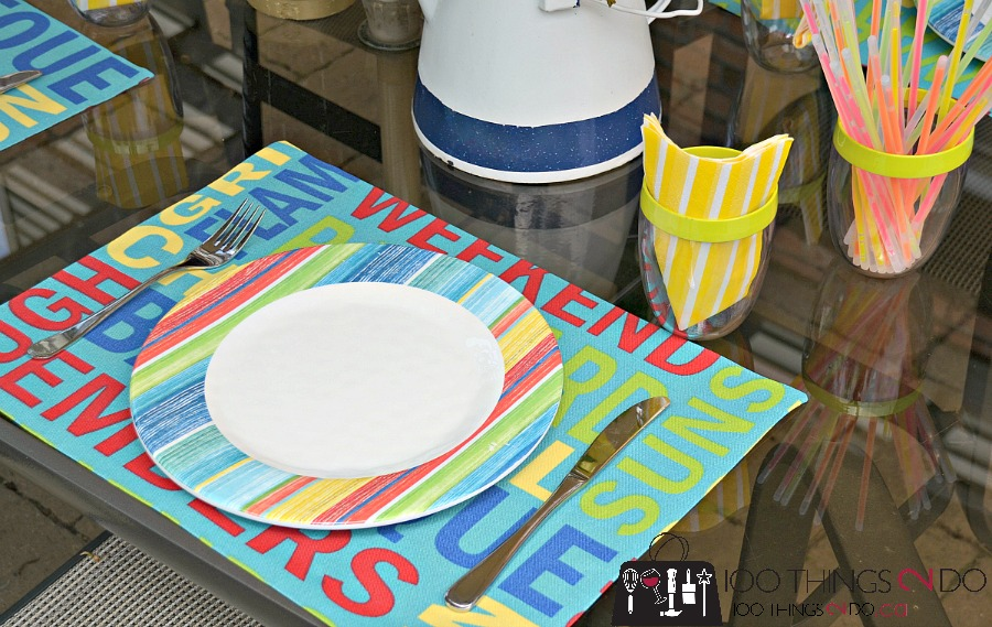 DIY No-Sew Placemats - Spill and UV Proof as well!