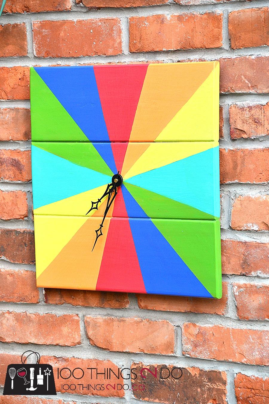 Make your own outdoor clock, Rainbow clock, DIY clock