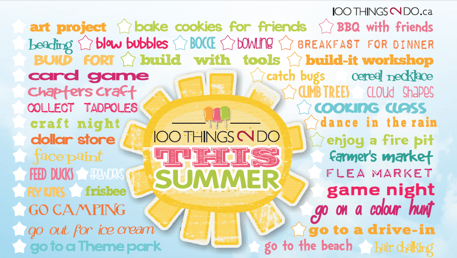 100 Things 2 Do This Summer - free printable checklist