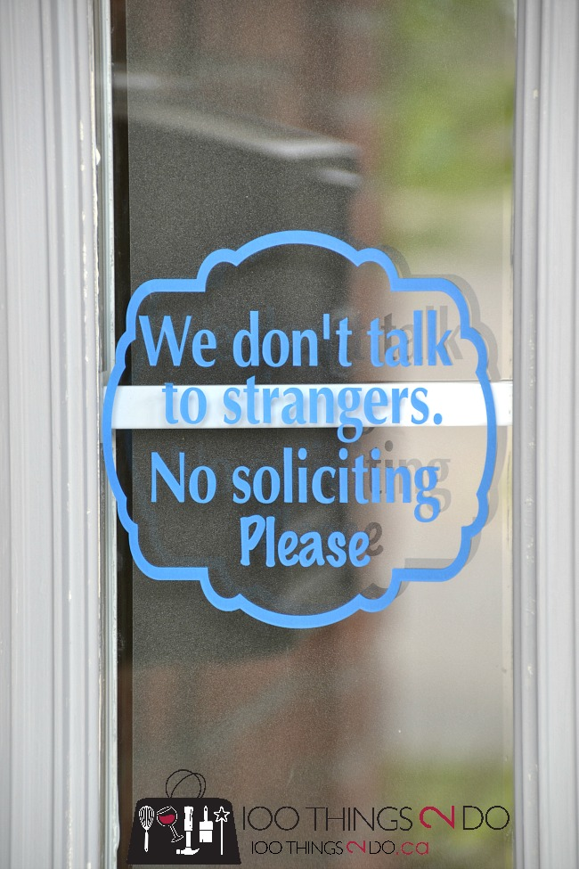 """Make a """"No Soliciting"""" sign for your front door - keep strangers at bay. Silhouette sign"""