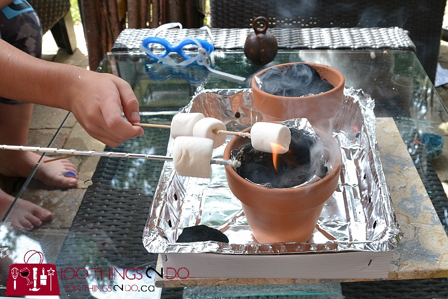 Mini fire pit, personal fire pit, s'mores bar, terracotta pot fire, marshmallow roasting station