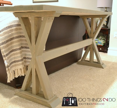 DIY Entryway Table Sofa Table 100 Things 2 Do