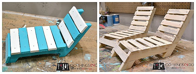 DIY doll furniture, doll lounger, DIY patio lounger, DIY sun lounger, Amercian Girl furniture