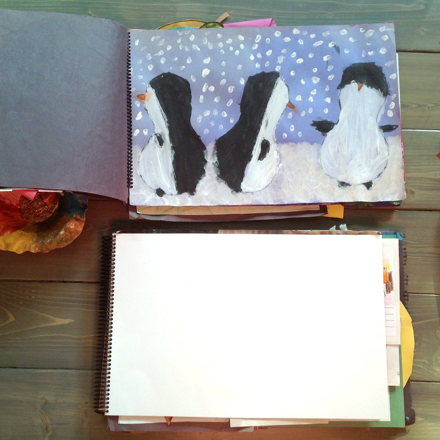 Storing kids artwork, how to keep kids artwork, organizing kids artwork