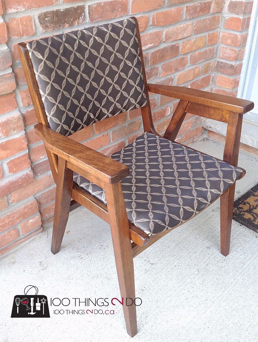 office chair makeover. Office Chair Makeover, Wood Chair, Refinished Reupholstered Waiting Makeover E