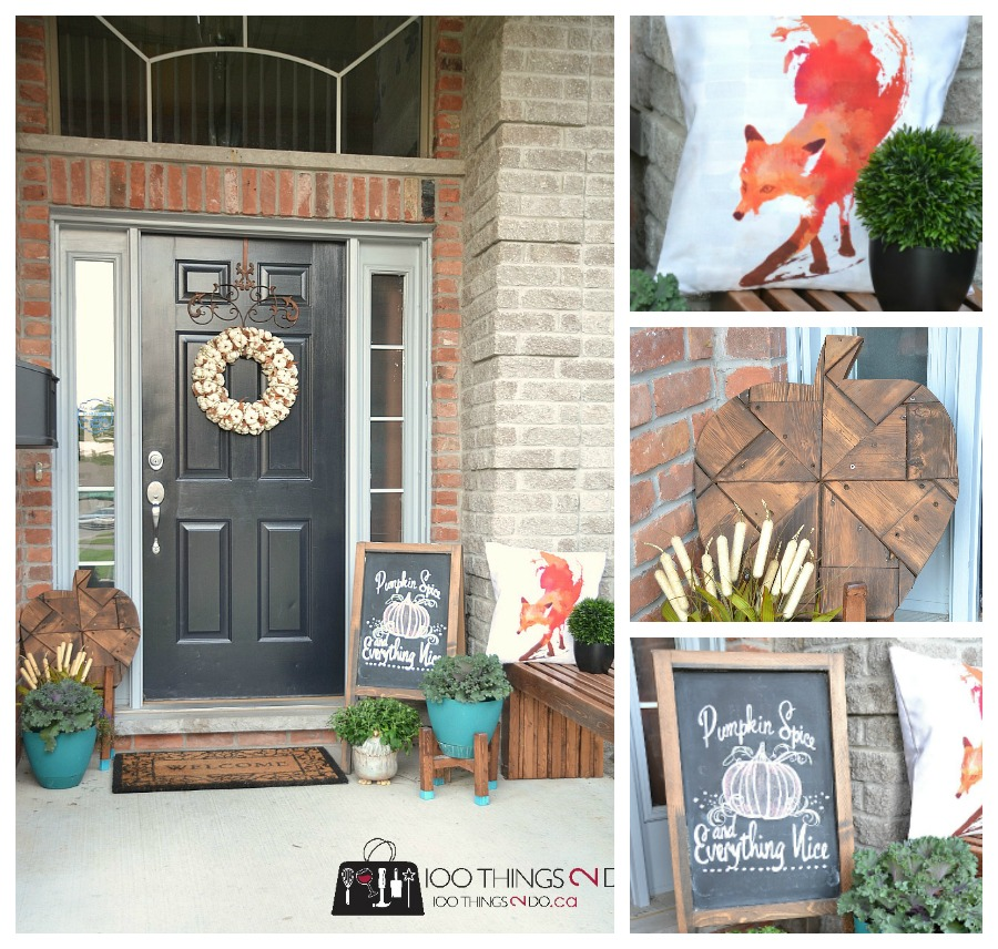 Fall front porch, decorating your porch for Fall, Autumn porch