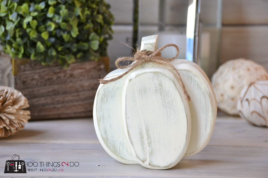 Scrap wood pumpkin, Fall decor, Autumn decor, white pumpkin, DIY pumpkin, wood pumpkin