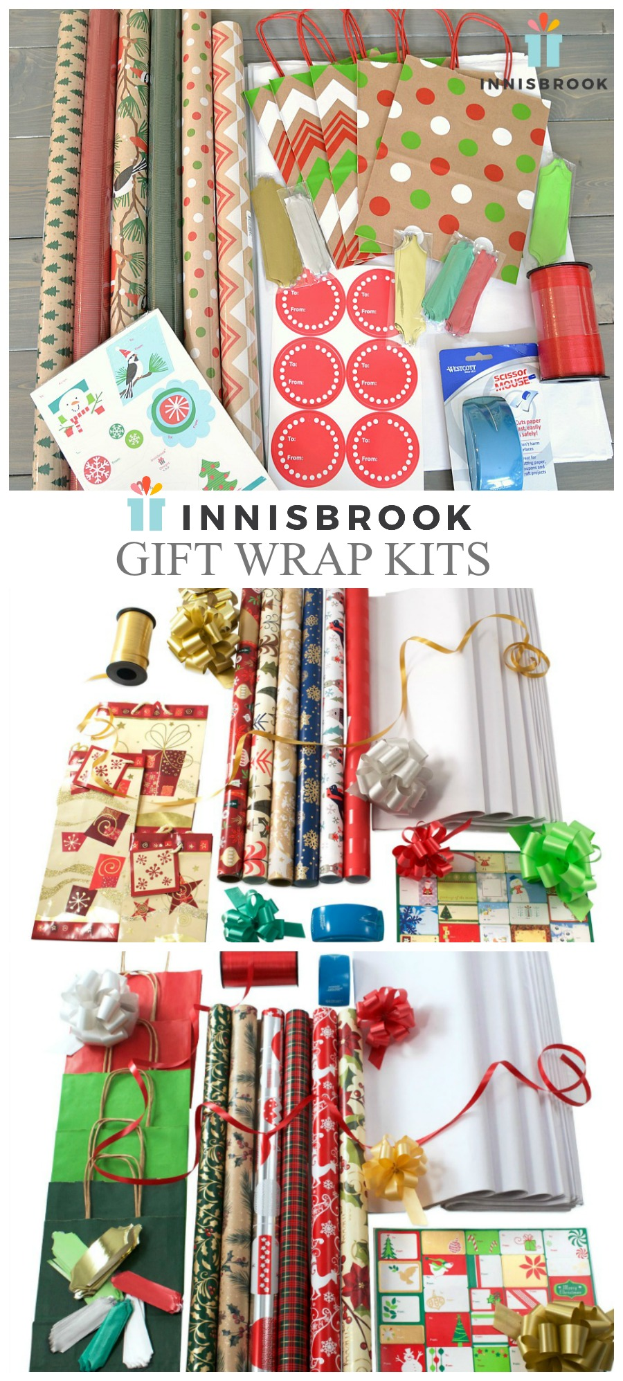 Gift wrap, wrapping paper, Christmas wrap, coordinated gift wrap, Innisbrook