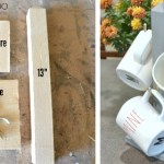 Mug stand, Mug tree, mug rack, DIY cup stand, coffee cup holder, coffee mug tree, DIY gift idea, scrap wood project