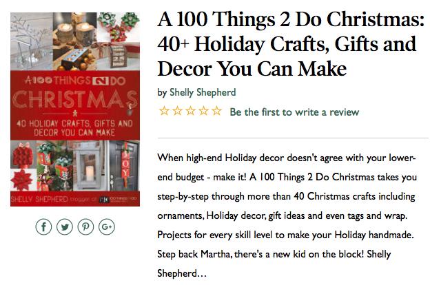 Christmas craft book A 100Things2Do Christmas, Christmas crafts, gifts and decor you can make